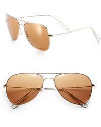Isabel Marant For Oliver Peoples Matt Aviator Metal Sunglasses - Lyst