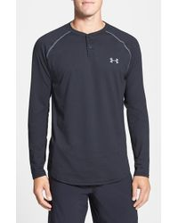 Under Armour Infrared - Coldgear Fitted Henley Top - Lyst