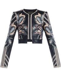 BCBGMAXAZRIA Duke Embroidered Jacquard Jacket - Lyst