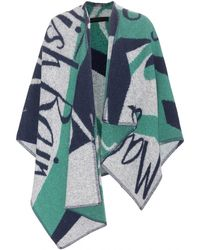Burberry Prorsum Wool And Cashmere Poncho - Lyst