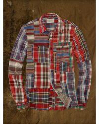 Denim & Supply Ralph Lauren Patchwork Sport Shirt - Lyst
