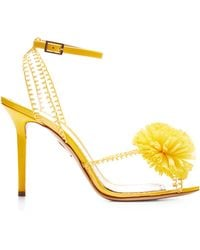 Charlotte Olympia Pom Pvc And Patent-Leather Sandals - Lyst