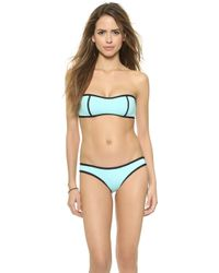 Lisa Lozano - Neoprene Bandeau Top - Mint - Lyst