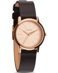 Nixon The Kenzi Leather Strap Watch 26mm - Lyst