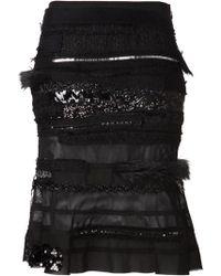 Junya Watanabe Black Patch Skirt - Lyst