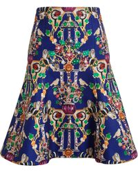 Mary Katrantzou Space Printed Skirt - Lyst