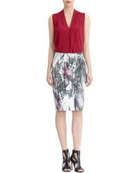 Rachel Roy Silk Sleeveless Shell Top - Lyst
