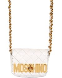 Moschino Mini Quilted Leather Shoulder Bag - Lyst