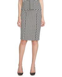 Cece by Cynthia Steffe - Stripe Jacquard Pencil Skirt - Lyst