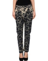 Dolce & Gabbana Laceprint Cropped Lowrise Skinny Jeans black - Lyst