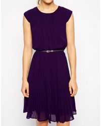 Oasis Pleated Skater Dress - Lyst