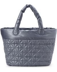Nila Anthony - Grey Quilted Nylon Tote - Lyst
