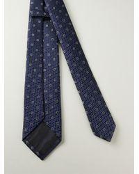 Z Zegna Squares Patterned Tie - Lyst