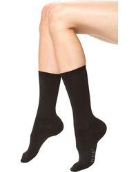 Hue Black Body Socks - Lyst