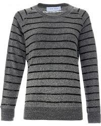 IRO | Lourdes Burnout Sweatshirt | Lyst