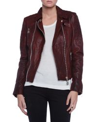 Doma Kendall Moto Leather Jacket - Lyst
