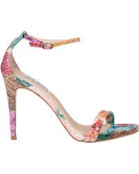Steve Madden Stecy Ankle Strap Floral Snake - Lyst