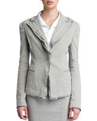 Donna Karan New York Layered Lapel Linen-blend Jacket - Lyst