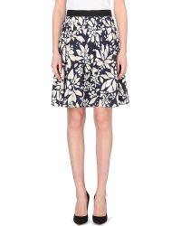 Diane von Furstenberg Dru Floral-Print A-Line Skirt - For Women - Lyst