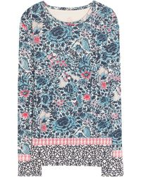 Tory Burch Jasmine Printed Cotton Top - Lyst