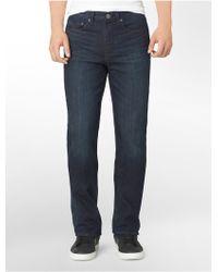 Calvin Klein Jeans Modern Boot Leg Osaka Blue Wash Jeans - Lyst