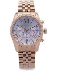 Michael Kors Lexington Watch - Rose Gold/Lavender - Lyst
