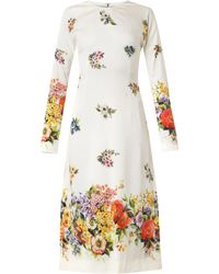 Dolce & Gabbana Floralprint Silk Dress - Lyst