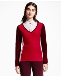 Brooks Brothers   Color-block Cashmere Sweater   Lyst