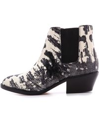 Zimmermann Chelsea Booties Blackcream - Lyst