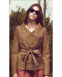 SOIA & KYO Martha Washed Trench Jacket - Lyst