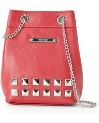 Nine West Red Studded Pouchette - Lyst