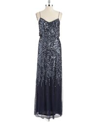 Adrianna Papell Sequin Blouson Gown - Lyst