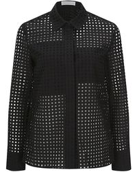 Victoria Beckham Black Lace Shirt - Lyst