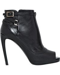 Roger Vivier 115Mm Peep Toe Leather Ankle Boots - Lyst