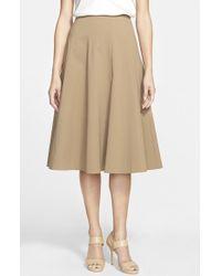 Lafayette 148 New York 'Nevada' Stretch Cotton Blend Skirt - Lyst