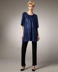Caroline Rose Stretch-knit Slim Pants - Lyst