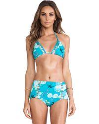 Seafolly Songbird Slide Tri Bikini - Lyst