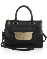 Milly Isabella Pebbledleather Small Satchel - Lyst