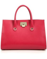 Jimmy Choo Riley Leather & Suede Tote - Lyst