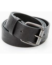 Mango Faux-Leather Belt black - Lyst