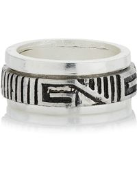 Topman Aztec Engraved Spinner Ring - Lyst