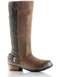 Sorel Slimboot Leather Knee Boots - Lyst