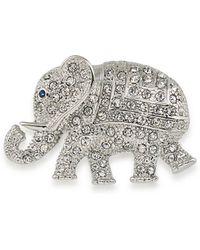 Carolee | Crystal Elephant Pin | Lyst