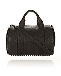 Alexander Wang - Rocco In Black Pebble Lamb With Matte Black - Lyst