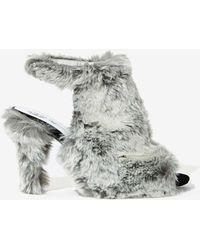 Nasty Gal Jeffrey Campbell Lorah Faux Fur Heel - Lyst