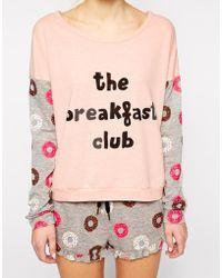 Mink Pink Breakfast Club Lounge Sweater - Lyst