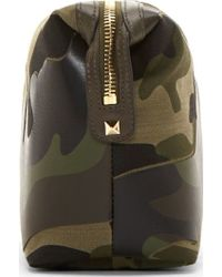 Valentino Green Camo Canvas and Leather Travel Case - Lyst