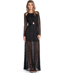 Line & Dot Love Lace Maxi Dress - Lyst