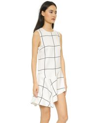 Stylestalker Monumental Peplum Dress - Window Pane white - Lyst
