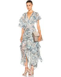 Zimmermann Tarot Layered Star Dress blue - Lyst